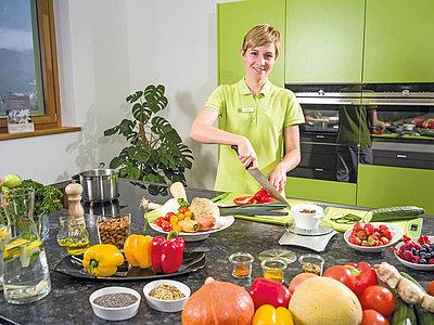 Zubereitung gesunder Speisen