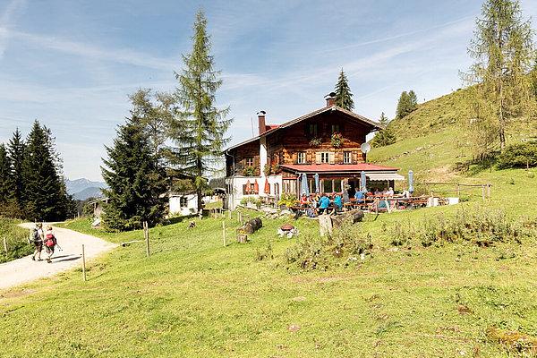 Kaindlhütte am Fuß des Scheffauers